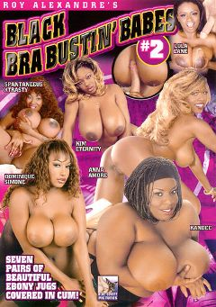 "Adult entertainment movie ""Black Bra Bustin' Babes 2"" starring Spantaneeus Xtrasty, Kandee & Kim Eternity. Produced by Blue Coyote Pictures."