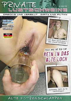 "Adult entertainment movie ""Private Lustschweine: Rein In Das Alte Loch"" starring Reni. Produced by MEGA-FILM."