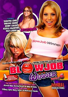 "Adult entertainment movie ""Blowjob Winner 6"" starring Jessica Valentino, Shawna Lenee & Brooke Haven. Produced by Immoral Productions."