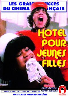 "Adult entertainment movie ""Hotel For Young Girls - French"" starring Brigitte Lelaurain, Sophie Duflot & Flore Soller. Produced by ALPHA-FRANCE."