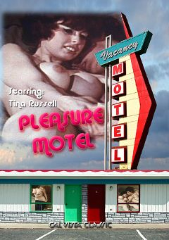 "Adult entertainment movie ""Pleasure Motel"" starring Tina Russell, Randy Damon & Chris Kennedy. Produced by Cal Vista Classic."