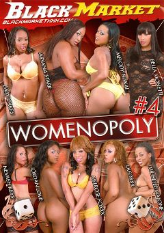 "Adult entertainment movie ""Womenopoly 4"" starring Bella Monetti, Nevaeh Keyz & La Foxxx. Produced by Black Market Entertainment."