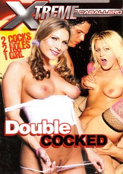 "Adult entertainment movie ""Double Cocked"" starring Trina Michaels, Staci Thorn & Mia Grey. Produced by Caballero Video."