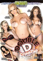 """Featured Star - Sarah Vandella presents the adult entertainment movie """"Double D Creampies""""."""
