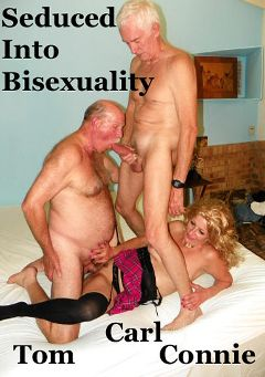 "Adult entertainment movie ""Seduced Into Bisexuality"" starring Carl Hubay, Tom * & Connie (Hot Clits). Produced by Hot Dicks Video."