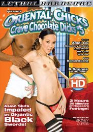 "Just Added presents the adult entertainment movie ""Oriental Chicks Crave Chocolate Dicks 5""."