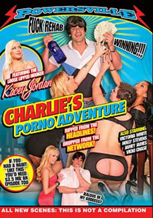 Charlie's Porno Adventure, starring Vicki Chase, Victoria White, Kacey Jordan, Hollie Stevens, Jamie James, Evan Stone, XXX Jay, Chad Diamond, Jay Rock, Elizabeth Anne and Yuri, produced by Powersville Inc.