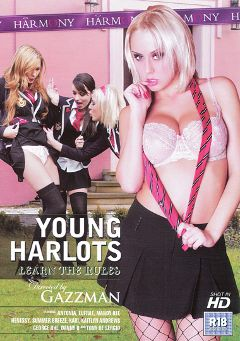 "Adult entertainment movie ""Young Harlots: Learn The Rules"" starring Kari Milla, Antonya & Henessy. Produced by Harmony Films Ltd.."