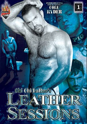 Leather Sessions, starring Cole Ryder, Johnny Hazzard, Tyler Riggz, Tag Adams, Nick Mazzaro, Luca DiCorso, Adam Young, Simon Angel and Derrick Hanson, produced by Rascal Video and Channel 1 Releasing.