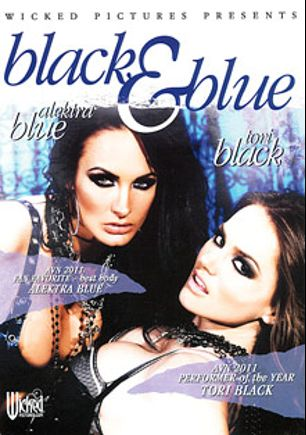 Black And Blue, starring Tori Black, Alektra Blue, Brendon Miller, Rocco Reed, Dane Cross, Kris Slater, Mick Blue and Nick Manning, produced by Wicked Pictures.