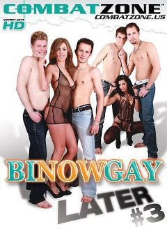 "Adult entertainment movie ""Bi Now, Gay Later 3"" starring Damien Storm, Luis Bigdog & Rikki. Produced by Combat Zone."