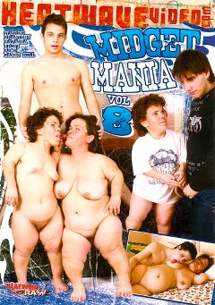 "Adult entertainment movie ""Midget Mania 8"" starring Trefi, Natasha & Rimo. Produced by Heatwave Raw."
