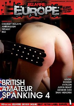 "Adult entertainment movie ""British Amateur Spanking 4"" starring Amber Leigh, Mistress Red & Shay Hendrix. Produced by Bizarre Europe."