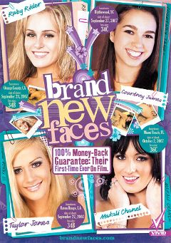 "Adult entertainment movie ""Brand New Faces"" starring Courtney James, Makali Chanel & Ruby Ryder. Produced by Vivid Entertainment."