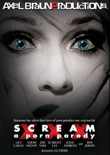 Scream XXX: A Porn Parody, starring Lily Labeau, Eli Cross, Andy Appleton, Jessie Andrews, Zoe Voss, Sarah Shevon, Scarlett Fay, Rocco Reed, Danny Wylde, Angelica Lane, James Deen, Jack Lawrence, Ron Jeremy and Evan Stone, produced by Axel Braun Productions.