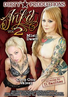 Diablos Ink'd 2, starring Kim Kennedy, Misty Dawn, Veronica Vaughn (ll) and Coco Ono Velvet, produced by Dirty Productions.