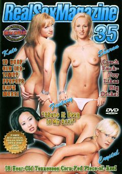 "Adult entertainment movie ""Real Sex Magazine 35"" starring Fantasy, Crystal & Kate Frost. Produced by Real Sex Magazine."