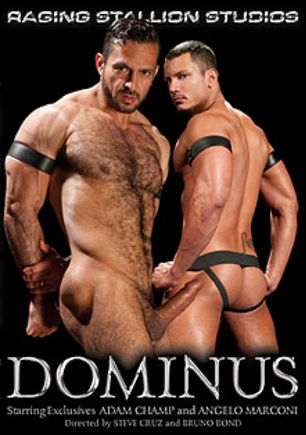 Dominus, starring Angelo Marconi, Adam Champ, Morgan Black, Race Cooper, Logan McCree, Josh West, Remy Delaine and Jason Adonis, produced by Falcon Studios Group and Raging Stallion Studios.