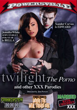Twilight The Porno And Other XXX Parodies, starring Jennifer White, Ashley Reeves, Xander Corvus, Mariah Wind, Lea De Mae, Johnny Thrust, Dave Hardman and Evan Stone, produced by Powersville Inc.