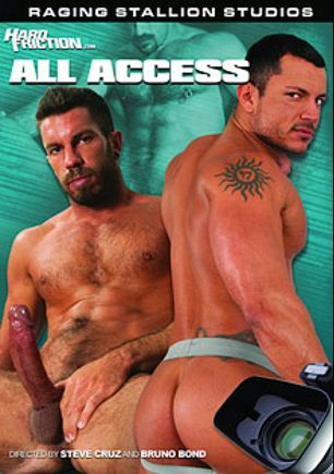 Hard Friction: All Access, starring Angelo Marconi, Logan Scott, Damien Stone, Shay Michaels, Drew Cutler, Samuel Colt, Troy Daniels and Dominic Sol, produced by Hard Friction, Raging Stallion Studios and Falcon Studios Group.