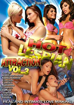 "Adult entertainment movie ""Hot Lesbian Attraction 3"" starring Audrianna Angel, Adrianna & Dhalia Denyle. Produced by Juicy Entertainment."