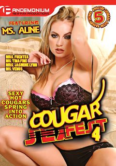 "Adult entertainment movie ""Cougar Sex Fest 4"" starring Aline (f), Pilar Fuentes & Tina Fine. Produced by Pandemonium."