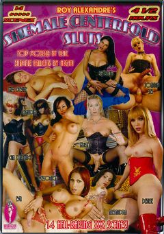 "Adult entertainment movie ""Shemale Centerfold Sluts"" starring Krysty, Eva Long & Denise (o). Produced by Blue Coyote Pictures."