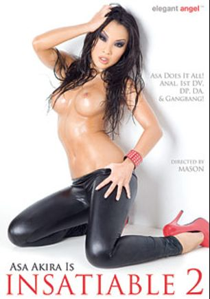 Asa Akira Is Insatiable 2, starring Asa Akira, Jon Jon, Broc Adams, Ramon Nomar, Katsuni, Mick Blue, Manuel Ferrara, Danny Mountain, Toni Ribas, Erik Everhard, Lexington Steele, John Strong and Nacho Vidal, produced by Elegant Angel Productions.