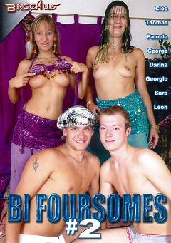 "Adult entertainment movie ""Bi Foursomes 2"" starring George Bellagio, Thomas Lee & Pamela Foxxx. Produced by Totally Tasteless Video."
