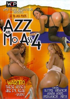 "Adult entertainment movie ""Azz And Mo Ass 4"" starring Pursuajon, Sinnamon Love & Ayana Angel. Produced by West Coast Productions."