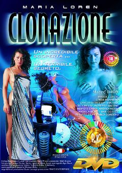 "Adult entertainment movie ""Clonazione"" starring Maria Loren, Lolly Petite & Carlotta DaSilva. Produced by Pinko Enterprises."