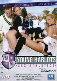 "Featured Series - Young Harlots presents the adult entertainment movie ""Young Harlots: Sex Athletics""."