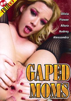 "Adult entertainment movie ""Gaped Moms"" starring Flower Tucci, Alessandra (f) & Alec Knight. Produced by Filmco."