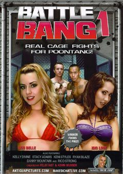 "Adult entertainment movie ""Battle Bang"" starring Lexi Belle, Isis Love & Ryan Blaze. Produced by Antigua Pictures."