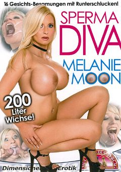"Adult entertainment movie ""Sperma Diva: Melanie Moon"" starring Melanie Moon, Boris Senking & Uma Masome. Produced by MMV Multi Media Verlag."