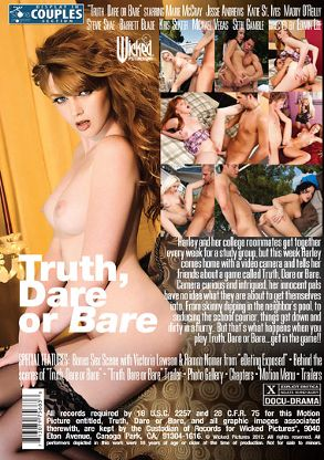 Straight Adult Movie Truth, Dare Or Bare - back box cover