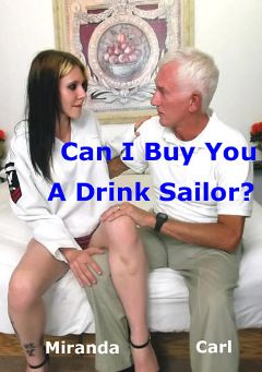 "Adult entertainment movie ""Can I Buy You A Drink Sailor"" starring Miranda & Carl Hubay. Produced by Hot Clits Video."