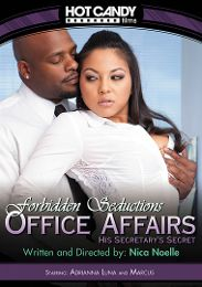 "Featured Category - Interracial presents the adult entertainment movie ""Office Affairs: His Secretary's Secret""."