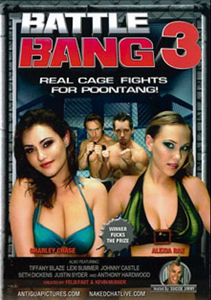 Battle Bang 3, starring Alexia Rae, Charley Chase, Lexi Summers, Tiffany Blaze, Justin Syder, Johnny Castle, Seth Dickens and Anthony Hardwood, produced by Antigua Pictures.