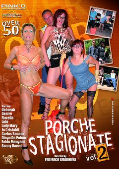 "Adult entertainment movie ""Porche Stagionate 2"" starring Lady Mary, Desire & Lulu. Produced by Pinko Enterprises."
