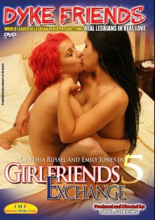 Girlfriends Exchange 5, starring Cynthia Russel and Emily Jones, produced by Sappho Love Films.