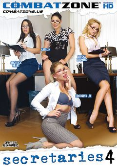 "Adult entertainment movie ""Secretaries 4"" starring Brooklyn Lee, Aleska Diamond & Angelica Heart. Produced by Combat Zone."