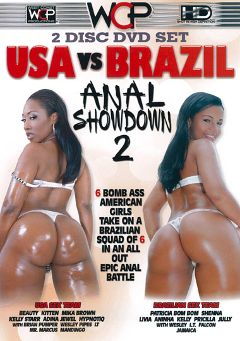 "Adult entertainment movie ""USA Vs Brazil Anal Showdown 2 Part 2"" starring Patricia Bom Bom, Beauty & Aniha. Produced by West Coast Productions."