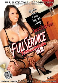 "Adult entertainment movie ""Full Service Transsexuals 10"" starring Jessica Fox (o), Adriana Buchechi & Ivana Spears. Produced by Ultimate T-Girl Productions."