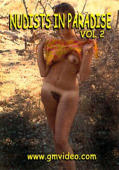 "Adult entertainment movie ""Nudists In Paradise 2"" starring Justice. Produced by GM Video."