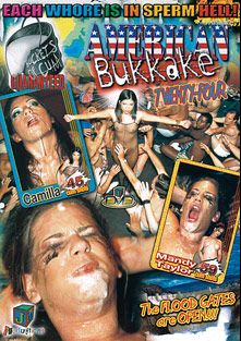 American Bukkake 24, starring Camilla Garcia, Mandy Taylor and Dave Hardman, produced by JM Productions.
