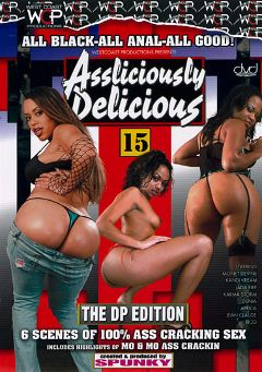 "Adult entertainment movie ""Assliciously Delicious 15"" starring Dunia Montenegro, Kandi Kream & Mone Divine. Produced by West Coast Productions."