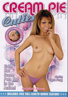 Cream Pie Cuties, starring Tigra Fang, Fayth Deluca, Mae Victoria, Christina Aguchi, Gwen Diamond and Don Fernando, produced by K-Beech and Baby Doll Pictures.