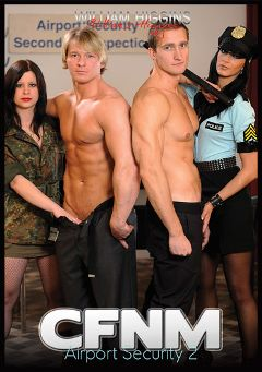 "Adult entertainment movie ""CFNM Airport Security 2"" starring David Kadera & Lubos Liborcik. Produced by William Higgins."