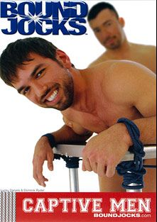 Captive Men, starring Lucky Daniels, Dominik Rider, Christopher Daniels, Nate Karlton, Gabriel Steele, Dylan Roberts and John Magnum, produced by BoundJocks and COLT Studio Group.